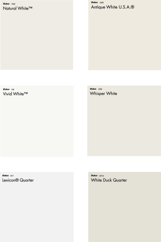 your guide to dulux-white paints