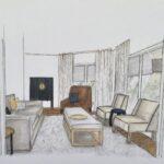 Lounge Room Concept Sketch