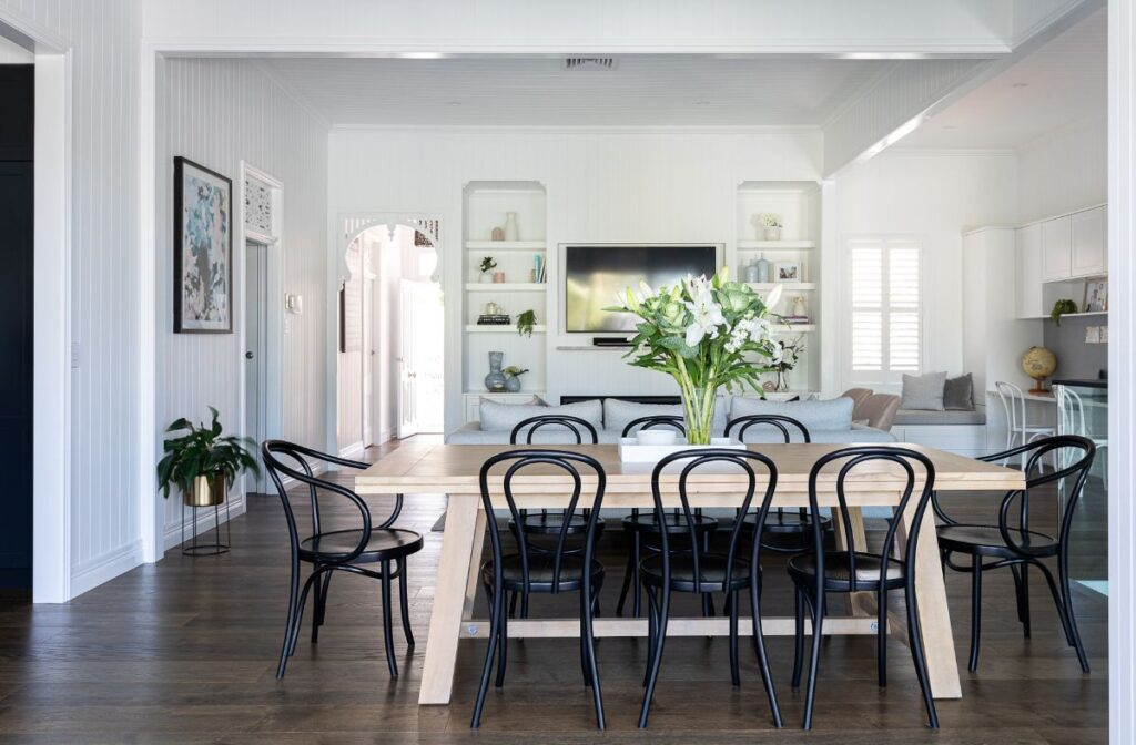 Living and Dining room in a modern Queenslander - Bella Vie Interiors