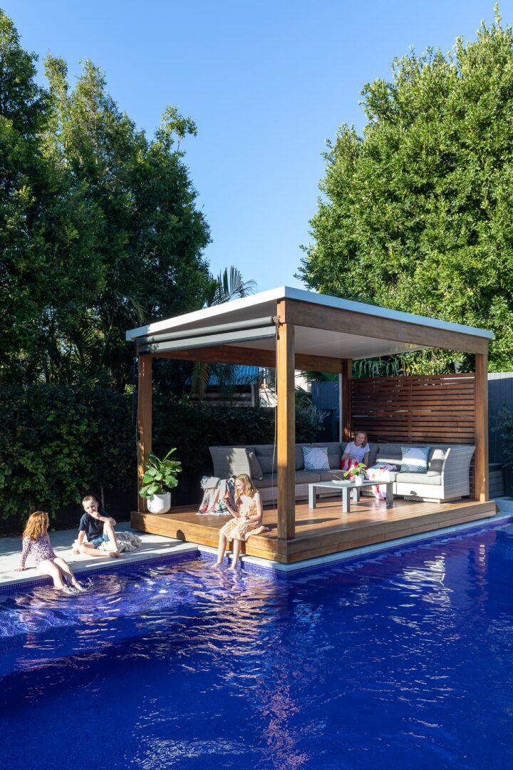 pool queensland swimming biophilic elements greenery plants summer homes qld home brisbane-min