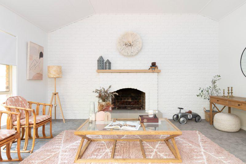white brick fireplace queensland fireplace scandi nordic hygge fire
