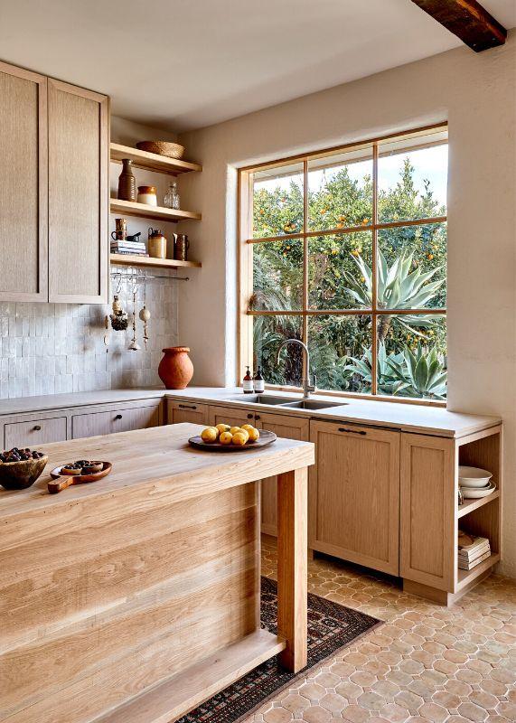 Studio Ezra Timber Kitchen Open Shelving Modern Scandi Nordic