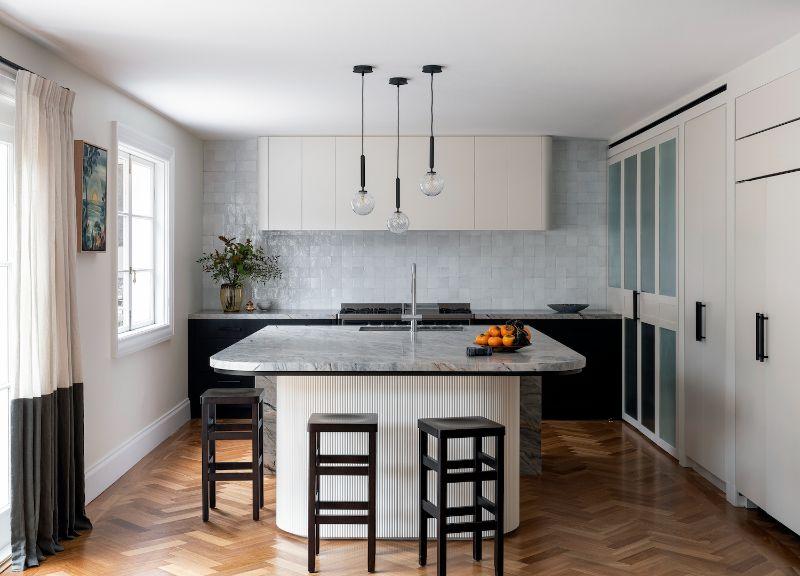 vaucluse northern beaches sydney kitchen luxury kitchen curves battens